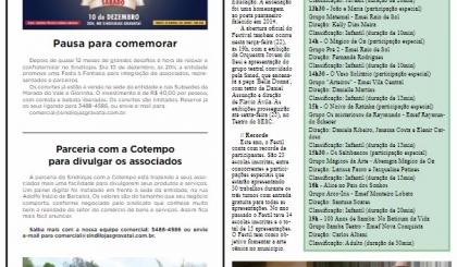 Coluna Sindilojas - Festa de Fim de ano - Parceria Cotempo - Jornal de Gravataí