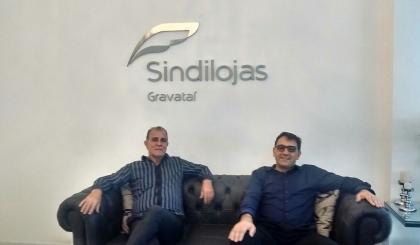 Vice-prefeito Áureo Tedesco visita o Sindilojas